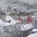 Мокрый снег над Канонерской ул.